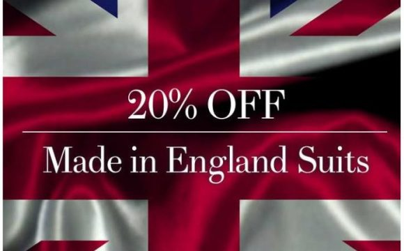 20% OFF Made in England Suits – from £795