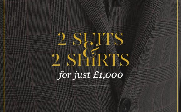 2 suits and 2 shirts for just £1000