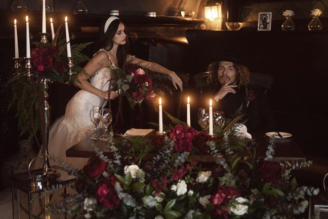 Moody Themed Wedding Reception